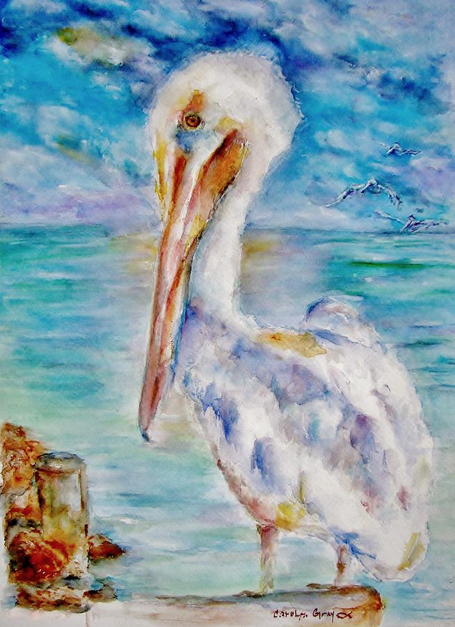 Pelican Perch Painting