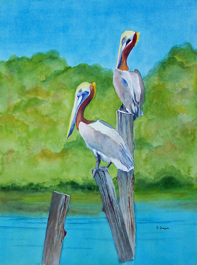 Pelican Perch II by Norman Freyer