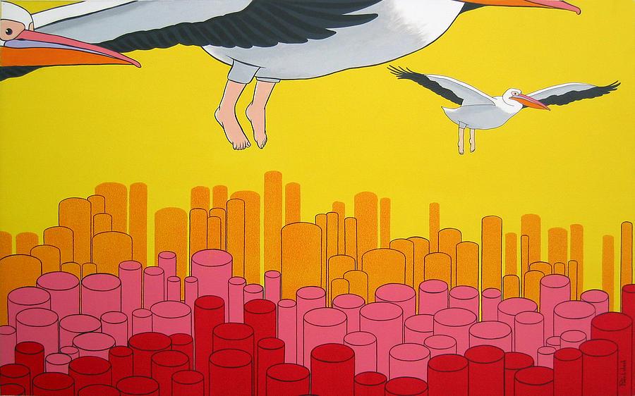 Birds Painting - Pelicans by Patricia Van Lubeck