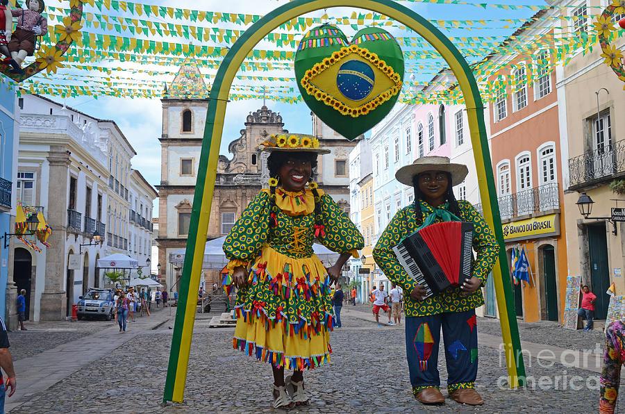 Pelourinho Photograph - Pelourinho - Historic Center Of Salvador Bahia by Ralf Broskvar