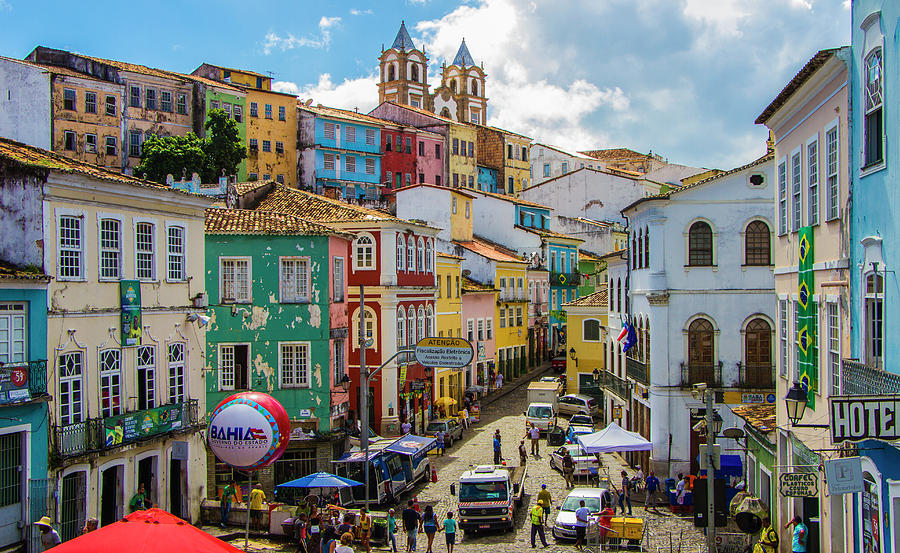 Pelourinho, Salvador Bahia, Brazil by Venetia Featherstone-Witty