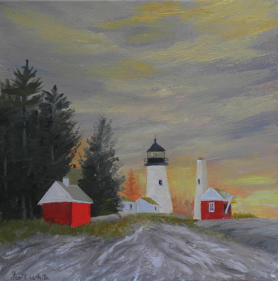 Pemaquid Light South View by Scott W White