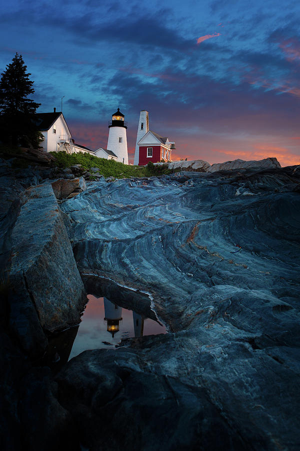 Pemaquid Lighthouse at dawn by David Smith
