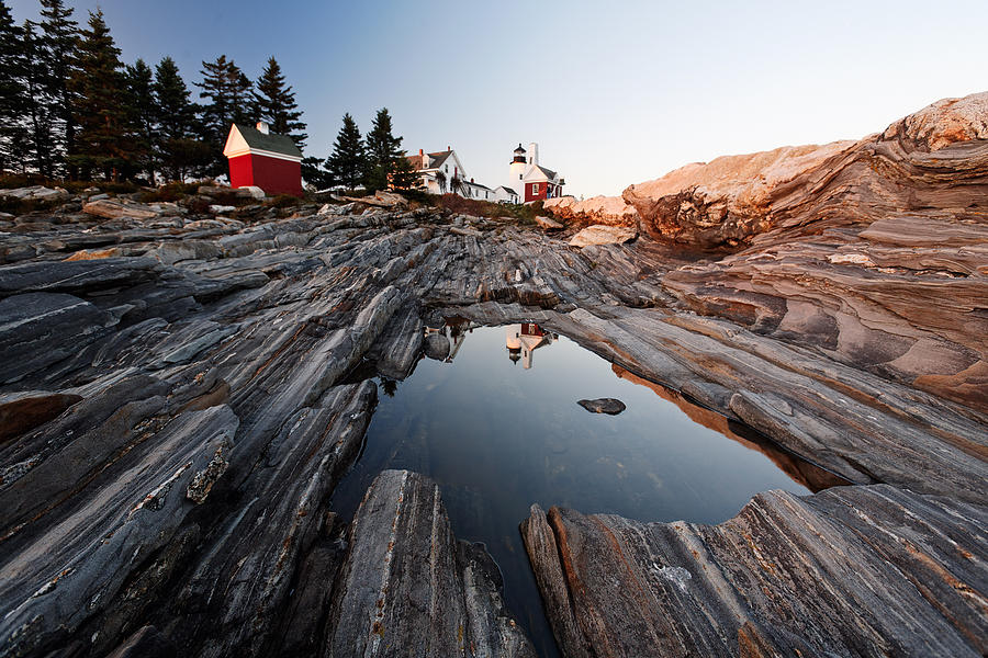 Architecture Photograph   Pemaquid Point Lighthouse In Late Afternoon Light  Maine By George Oze