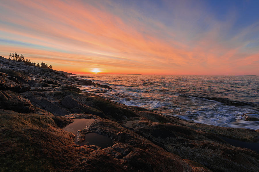 Pemaquid's Sky on Fire by Jesse MacDonald