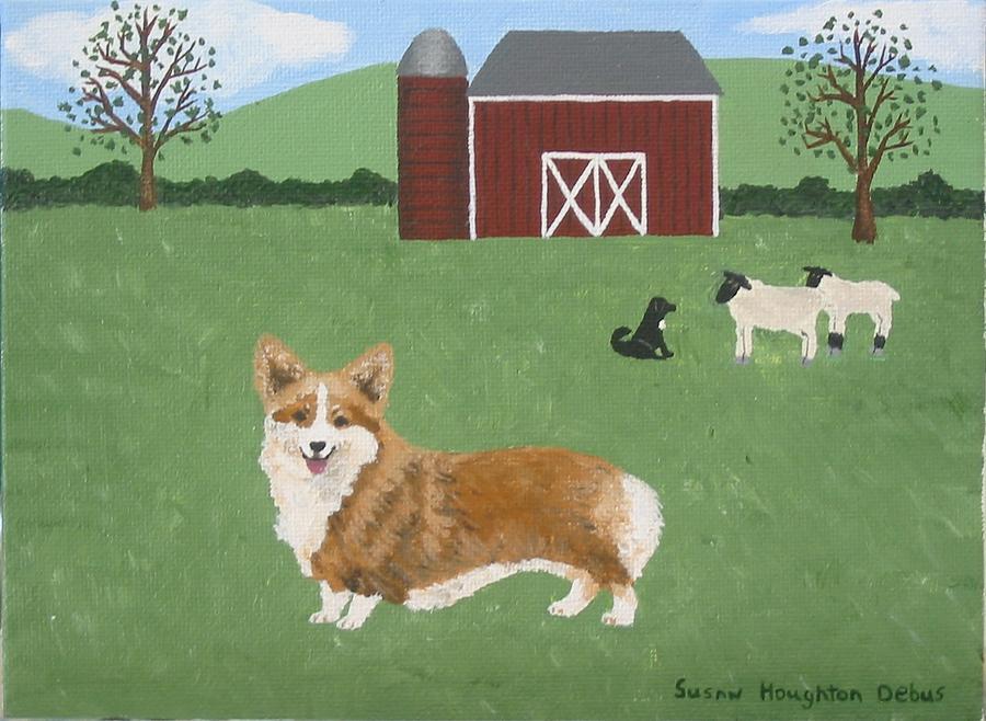 Dog Painting - Pembroke Corgi by Susan C Houghton