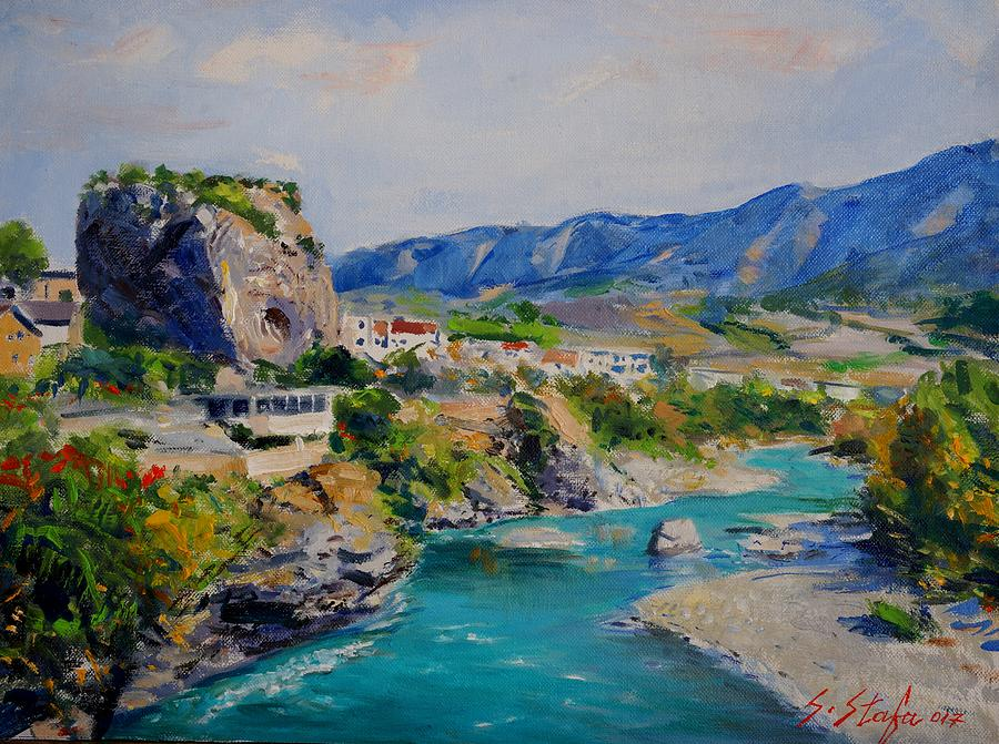 Landscape Painting - Pemeti by Sefedin Stafa