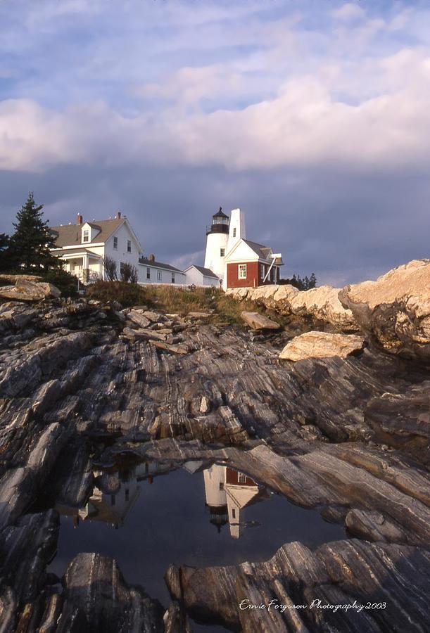 Pemiquid Lighthouse Reflection Photograph by Ernie Ferguson