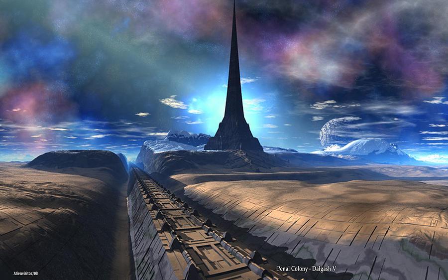 Penal Colony - Dalgash III Digital Art by David Jackson
