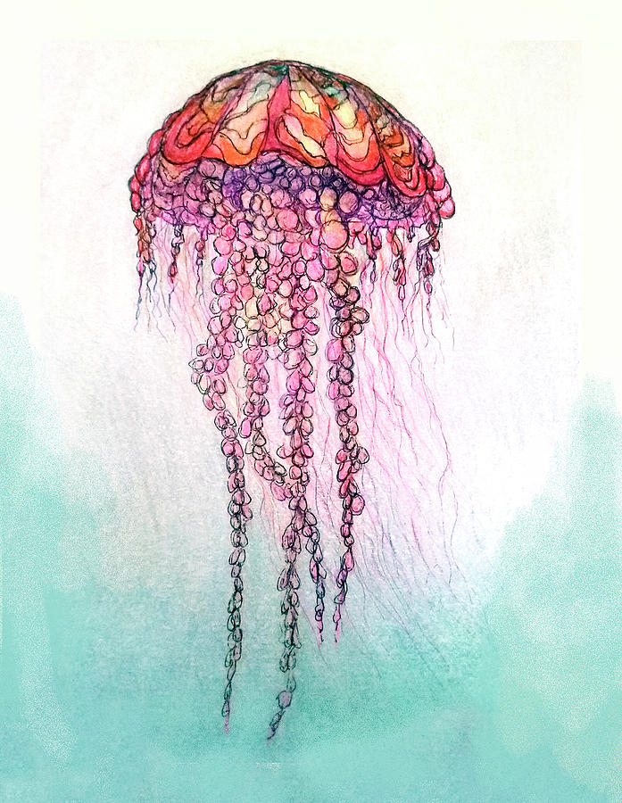 Pencel_jellyfish1 Painting by Martin Hardy