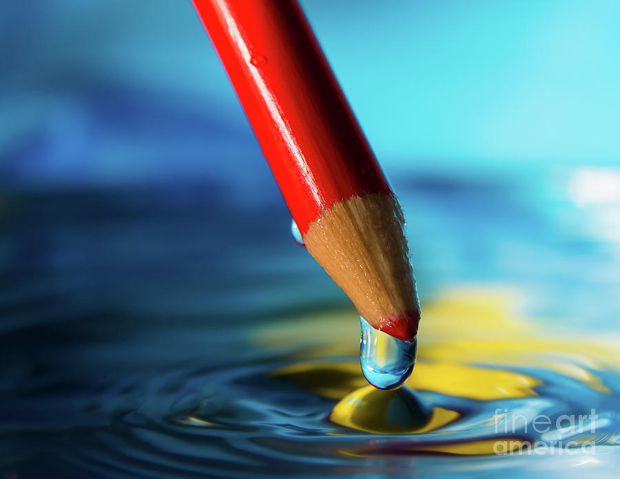 Abstract Photograph - Pencil Drip by Alissa Beth Photography