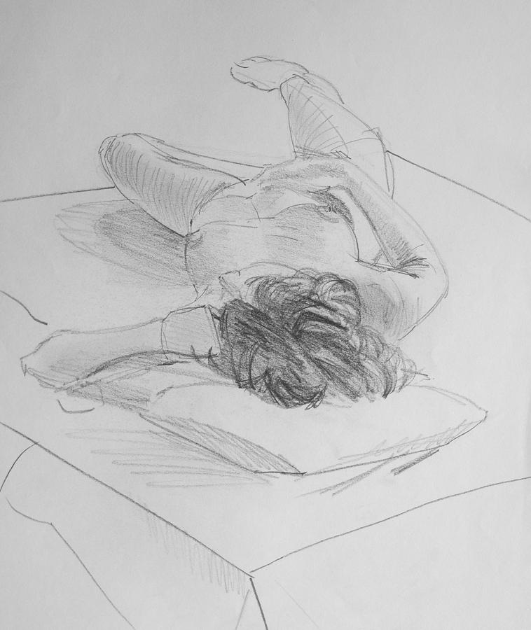 Nude Female Pencil Drawings