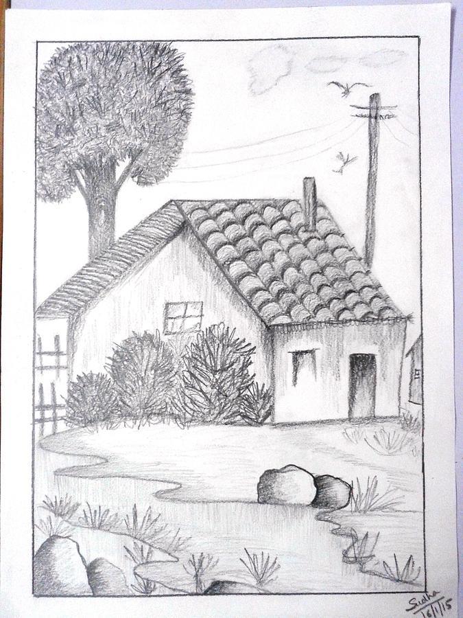 Pencil Shading Drawing by Sudha Tulsyan