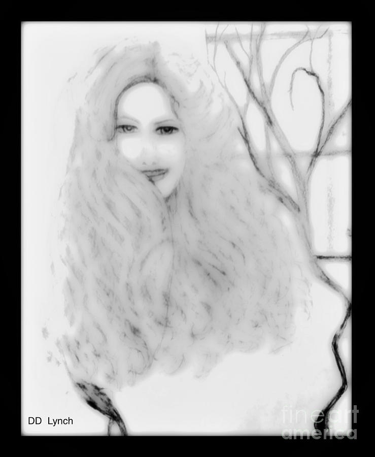 pencil sketch of blonde hair girl drawing by debra lynch