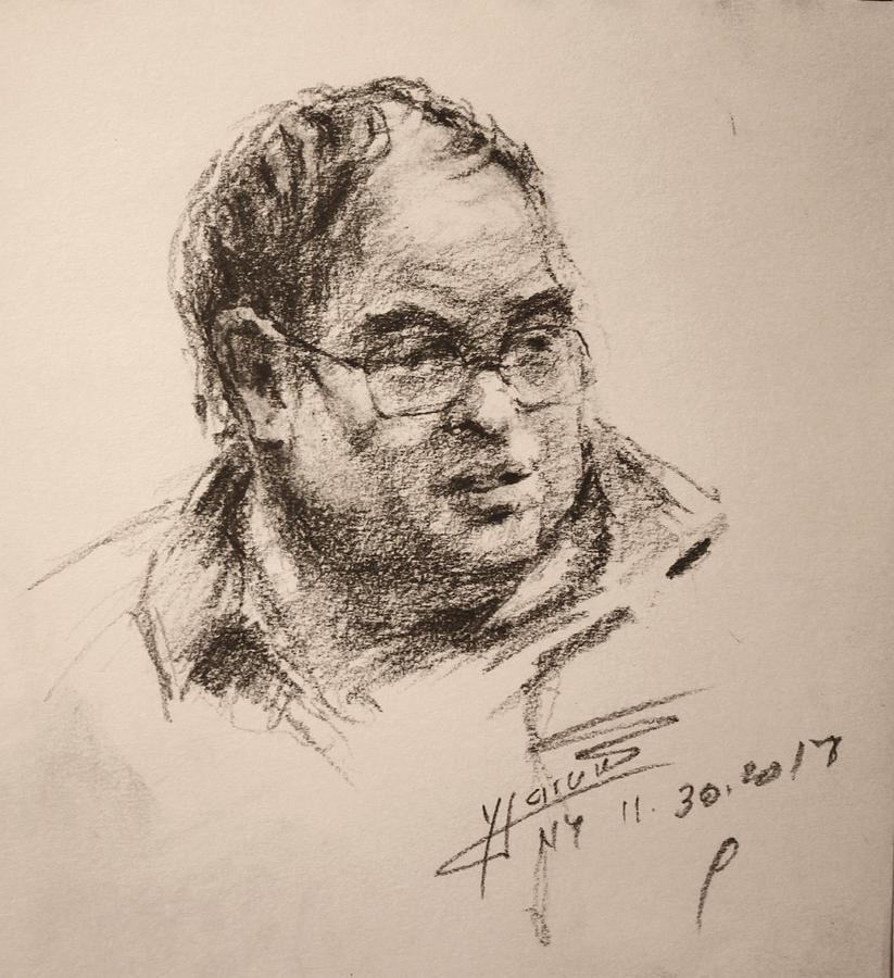 Man Drawing - Sketch Man 8 by Ylli Haruni