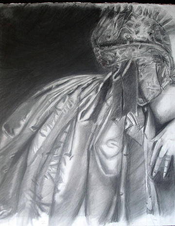 Figurative Painting - pencil study after Ingres by Carlos Sanjurjo