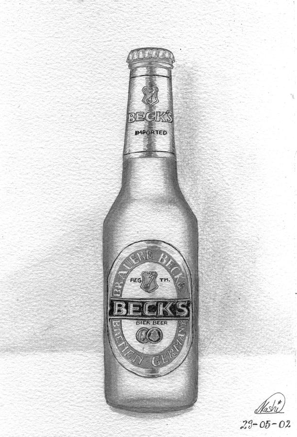 how to draw beer glass