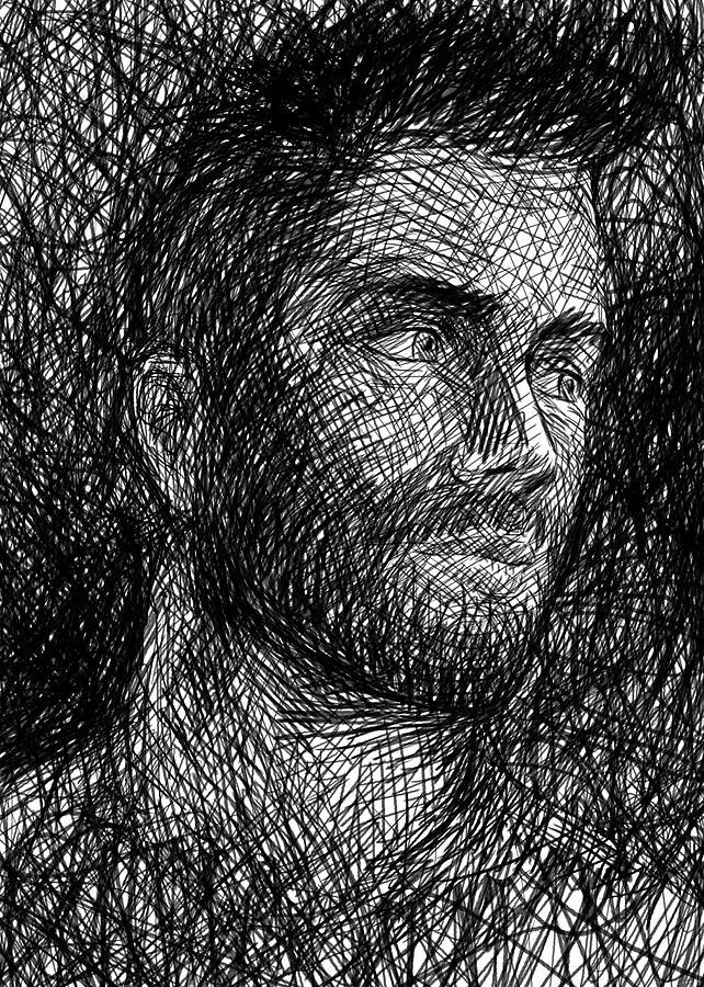 Pencil Painting - Pencilportrait 04 by Bad Robin