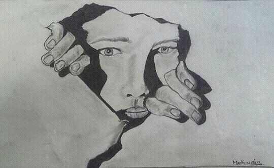 Pencle Sketch Drawing by Madhusudan Bishnoi
