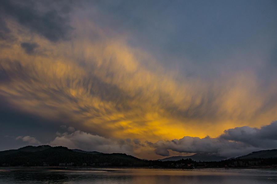 Sunset Photograph - Pend Oreille River Sunset 1 by Albert Seger