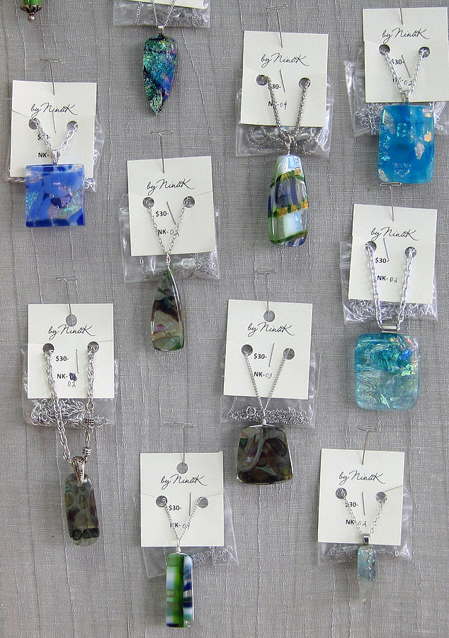 Fused Glass Glass Art - Pendents by Nina Kuberski