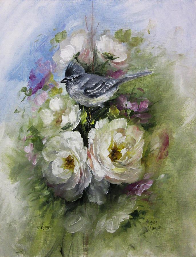 Roses Painting - Penelopes Flycatcher by David Jansen
