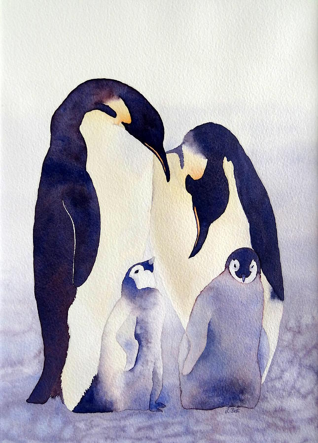 Penguin Family by Laurel Best