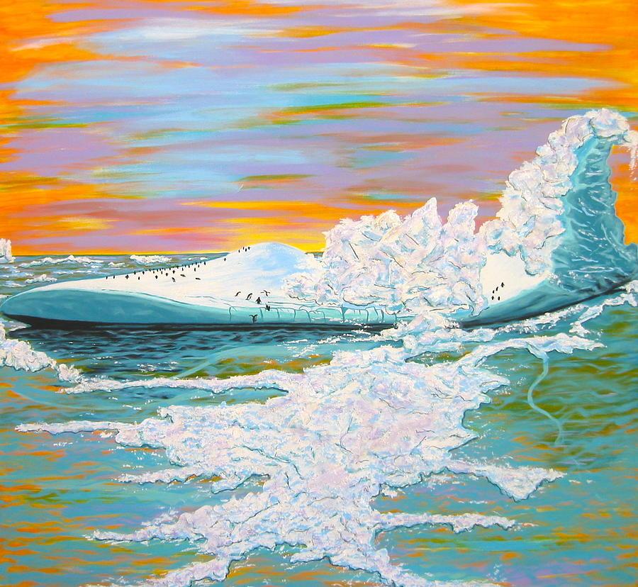 Iceberg Painting - The Last Iceberg by V Boge