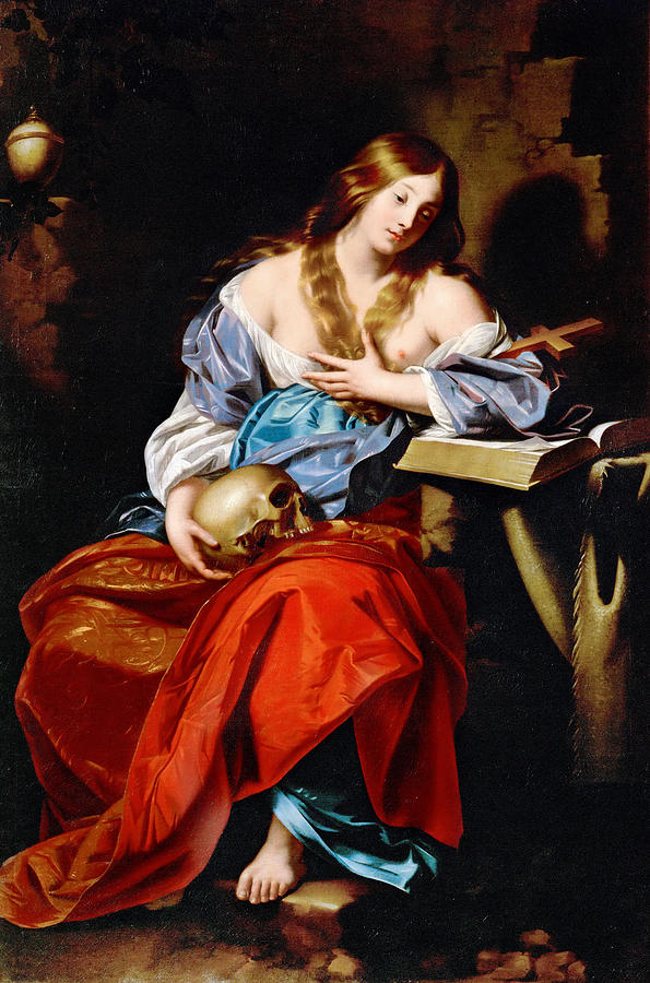 Penitent Mary Magdalene Painting by Nicolas Regnier