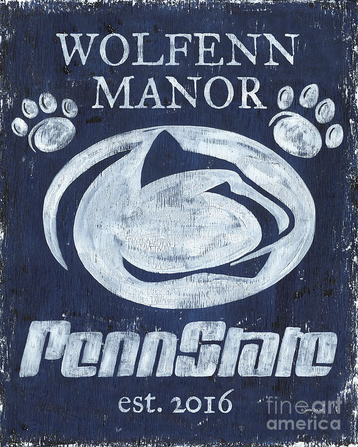 Penn State Painting - Penn State Personalized by Debbie DeWitt