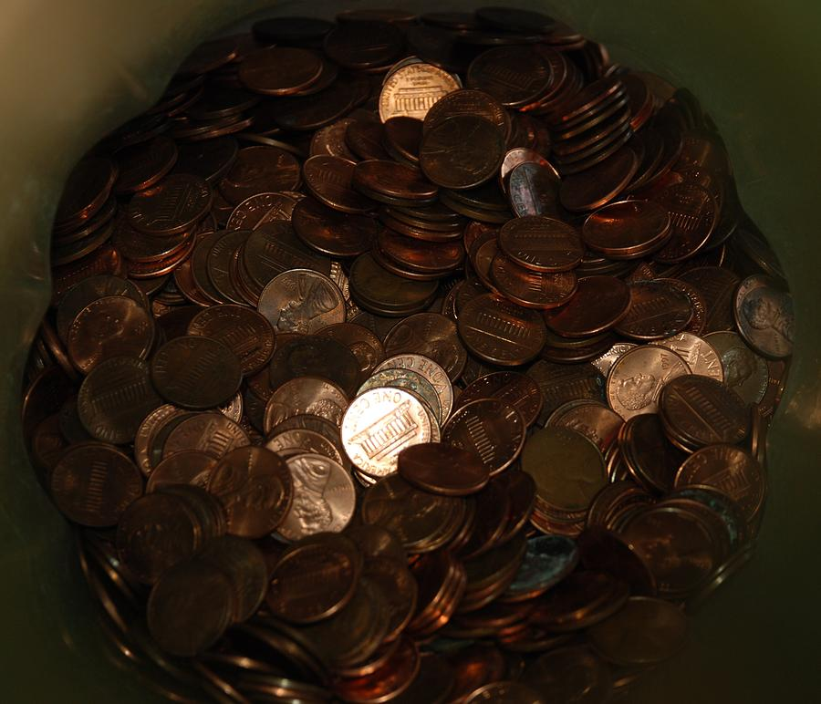 Pennies Photograph - Pennies by Rob Hans