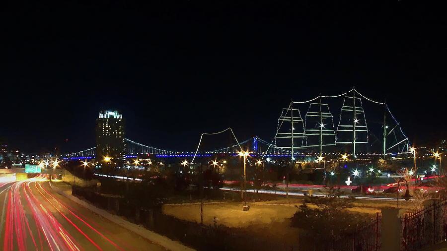 Philadelphia Digital Art - Penns Landing by Leeon Photo