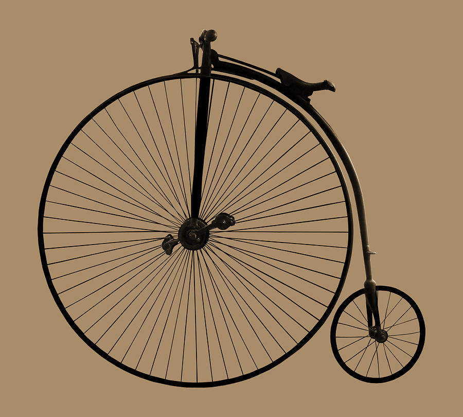 Penny Farthing Photograph - Penny Farthing Sepia by Gill Billington