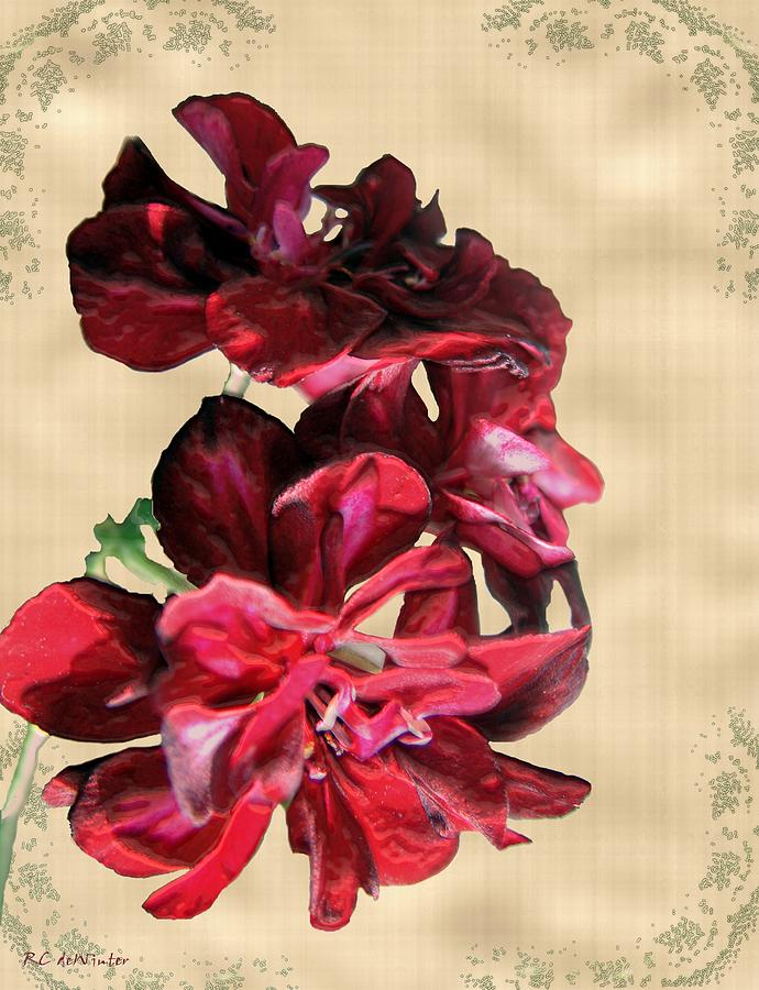 Flowers Painting - Penny Postcard by RC DeWinter