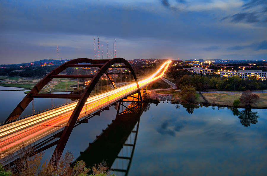 Pennybacker Bridge at Dusk by John Maffei