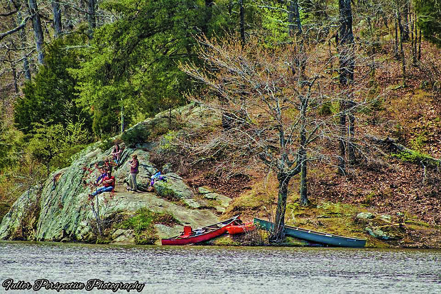Water Photograph - Pennyrile Park Canoes by Chad Fuller