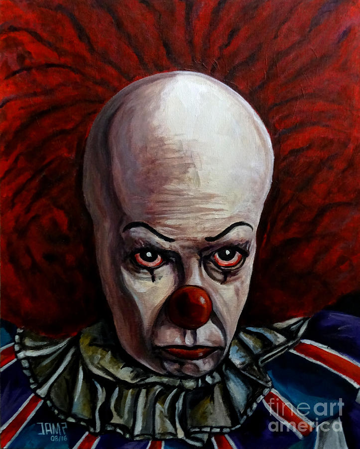 Pennywise Painting - Pennywise 2 by Jose Mendez