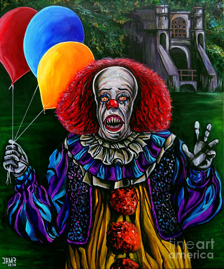 Pennywise Painting - Pennywise It by Jose Mendez