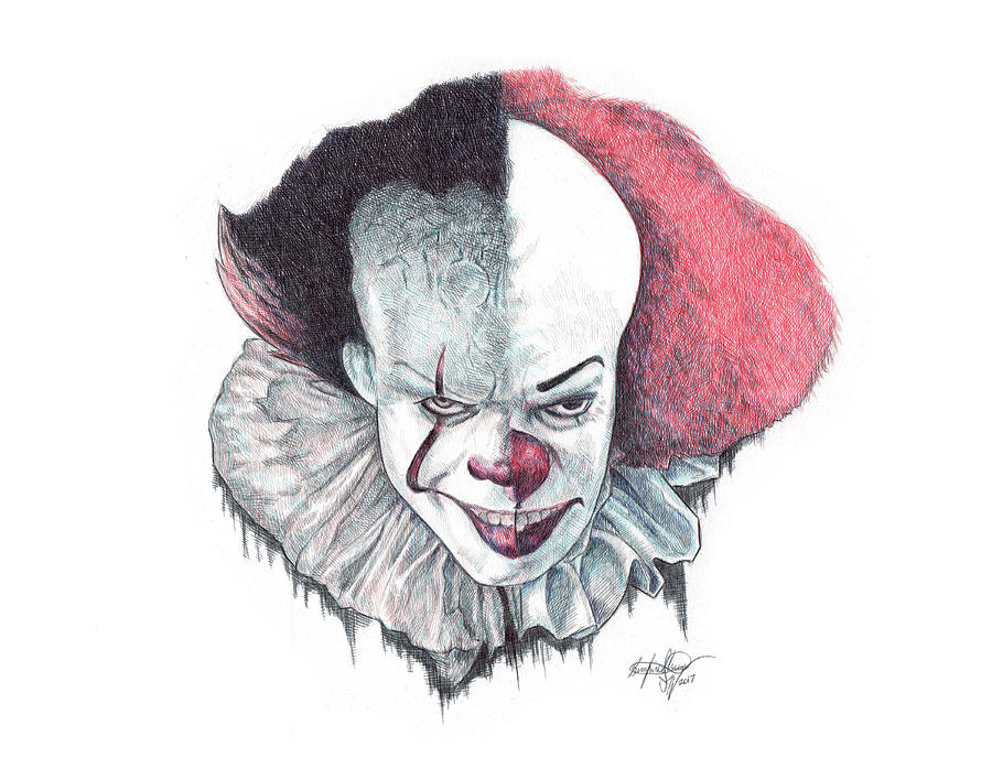 Pennywise The Clown Drawing by Serafin Ureno