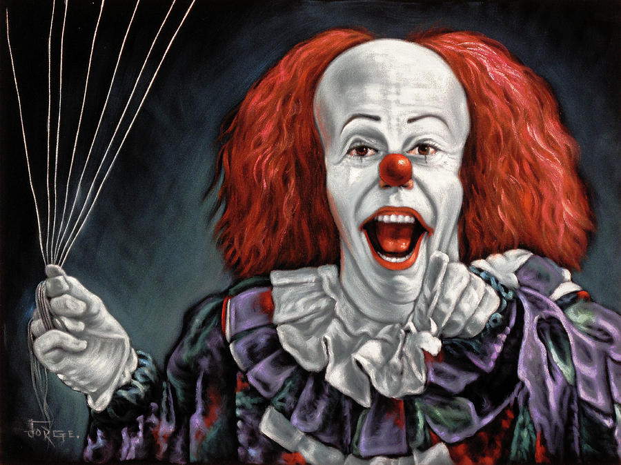 Pennywise the Dancing Clown or Bob Gray Painting by Jorge ...