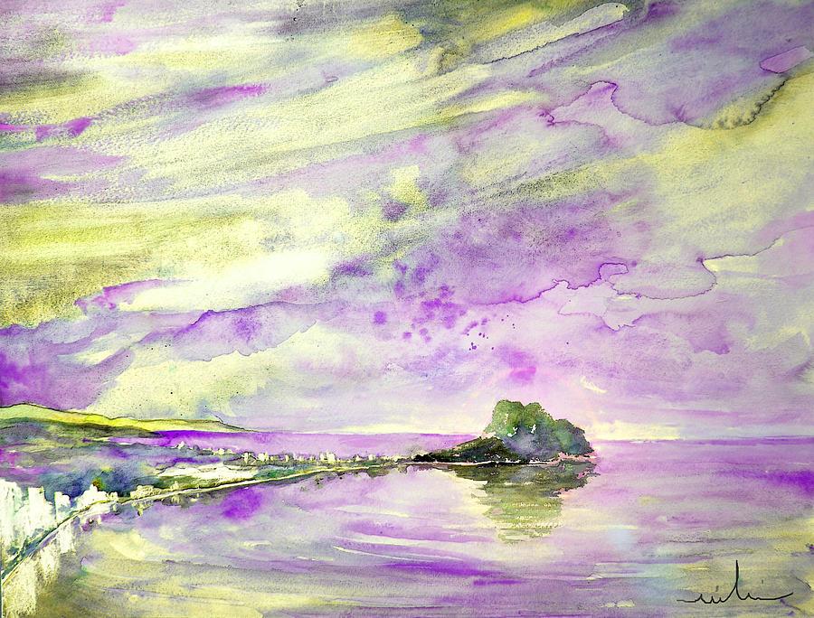 Watercolour Painting - Penon De Ifach In Calpe 02 by Miki De Goodaboom