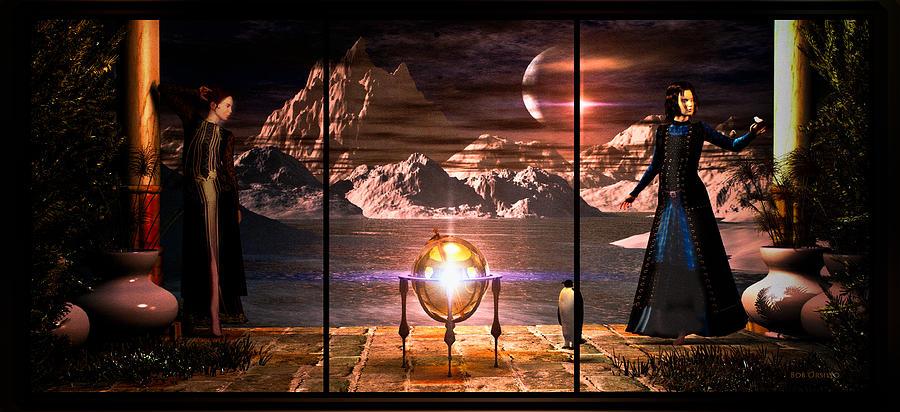 Dream Digital Art - Penquin Magic by Bob Orsillo