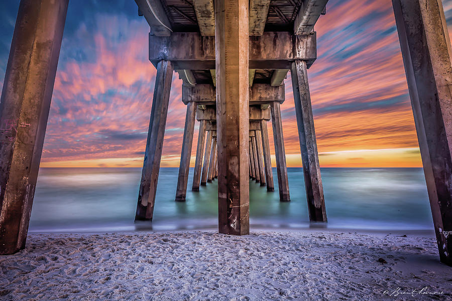 Pensacola Beach Fireset Photograph by Brent Shavnore