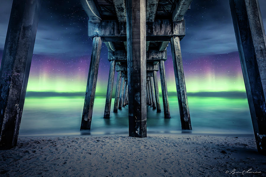 Pensacola Beach Solar Storm Digital Art by Brent Shavnore