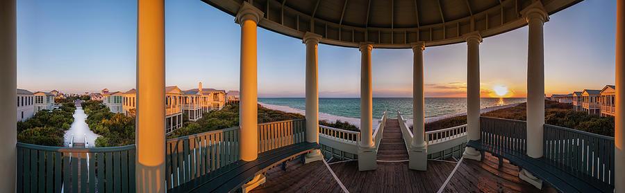 Pensacola Pavilion Seaside Sunset by Kurt Lischka