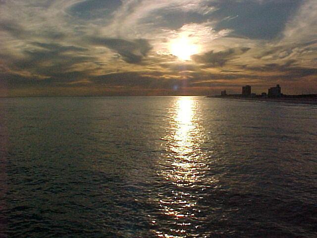 Sunset Photograph - Pensacola Sun Set by Dennis Pops Tangeman