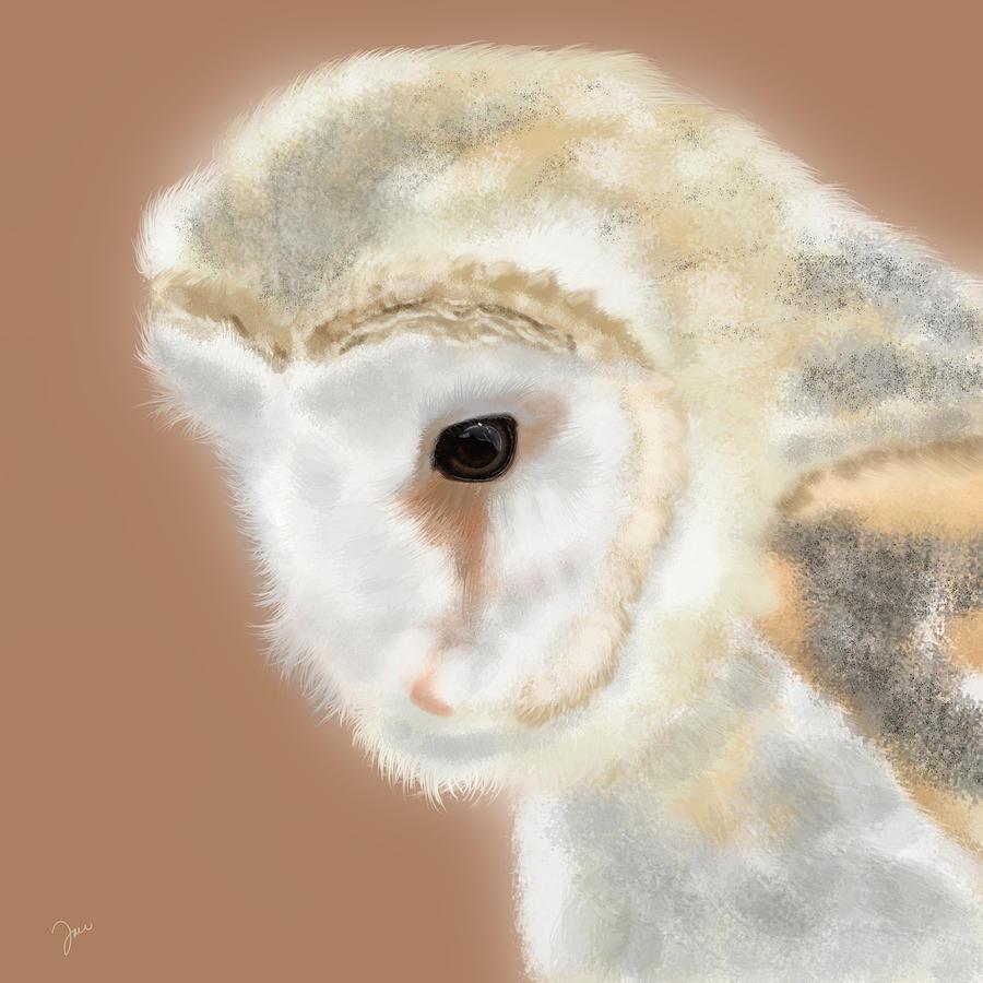 Owl Painting - Pensive Barn Owl by Tara Appling
