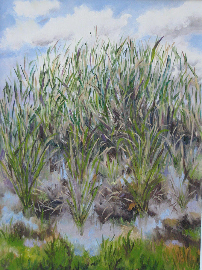 Landscape Painting - Pensive Grasses by Lisa Boyd