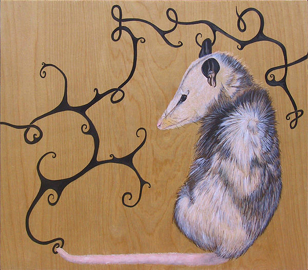 Animal Painting - Pensive Nocturnal by Sarah Everett