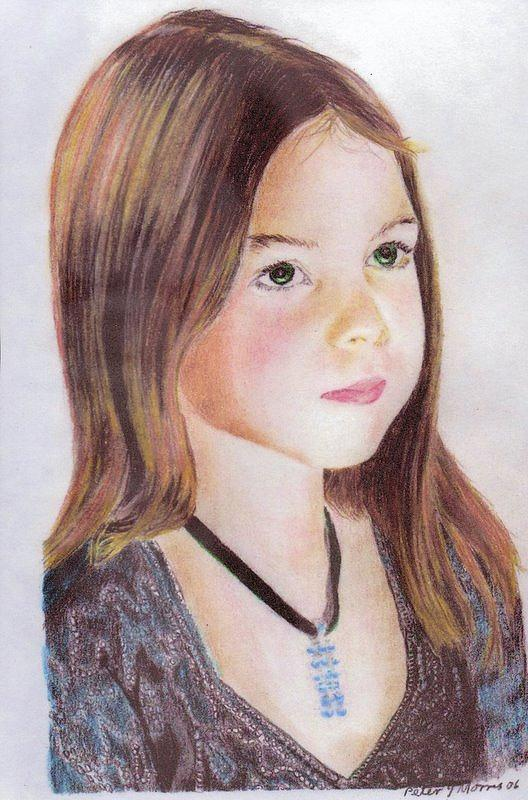 Portrait Drawing - Pensive by Peter Morris